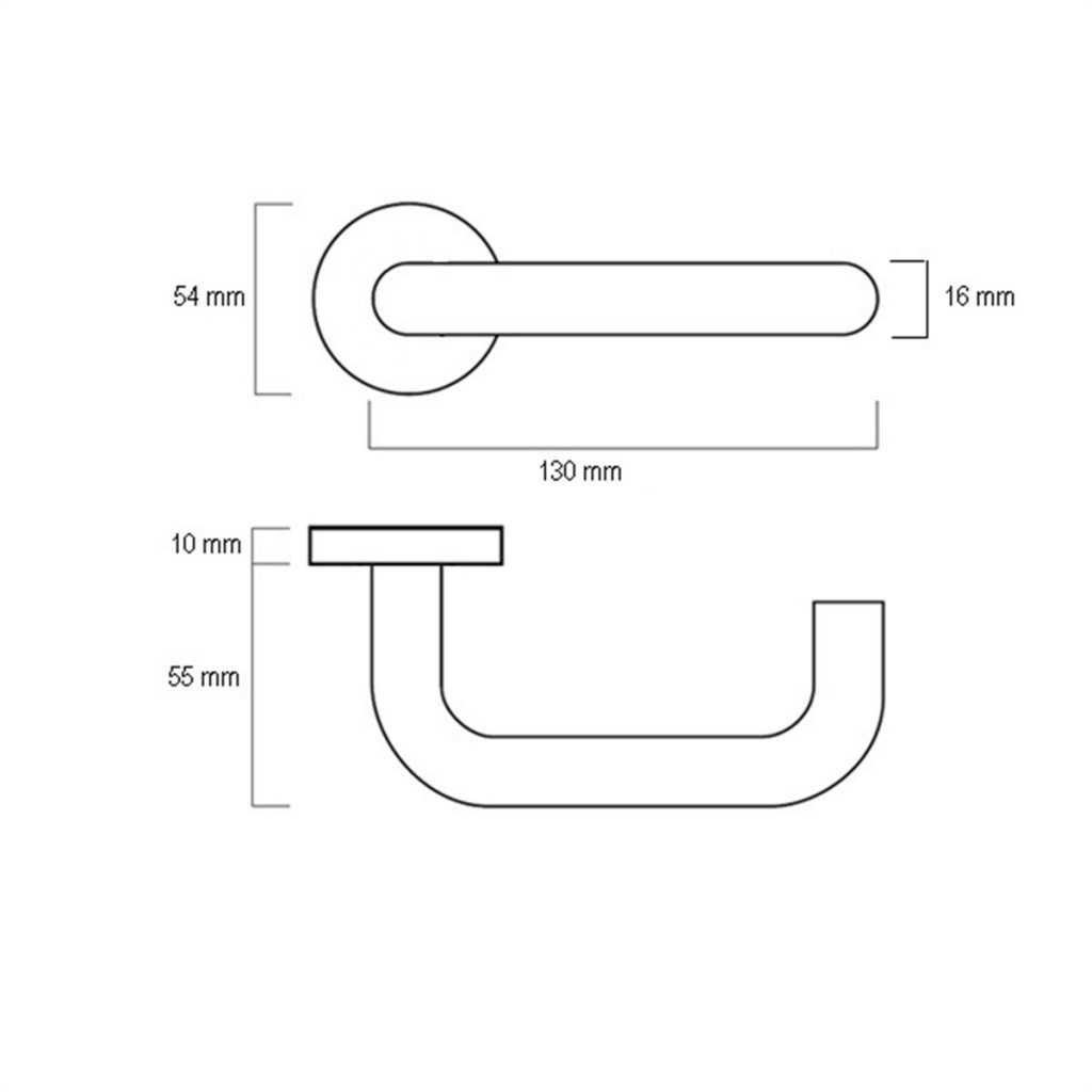CPS Solid SS Lever Handle (CPS LH100) Drawing