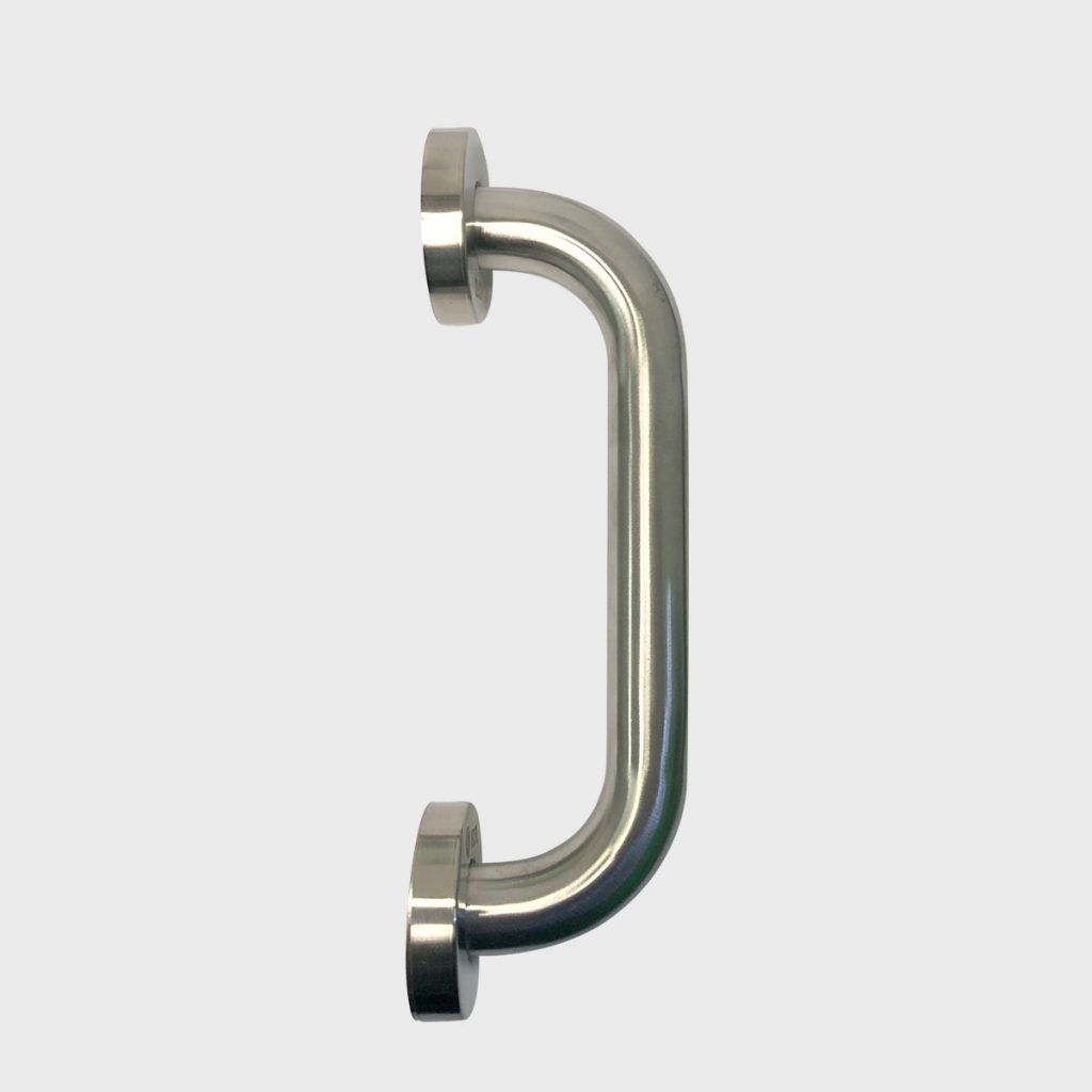 CPS Stainless Steel 'D' Pull Handle with rose (CPS PH100)