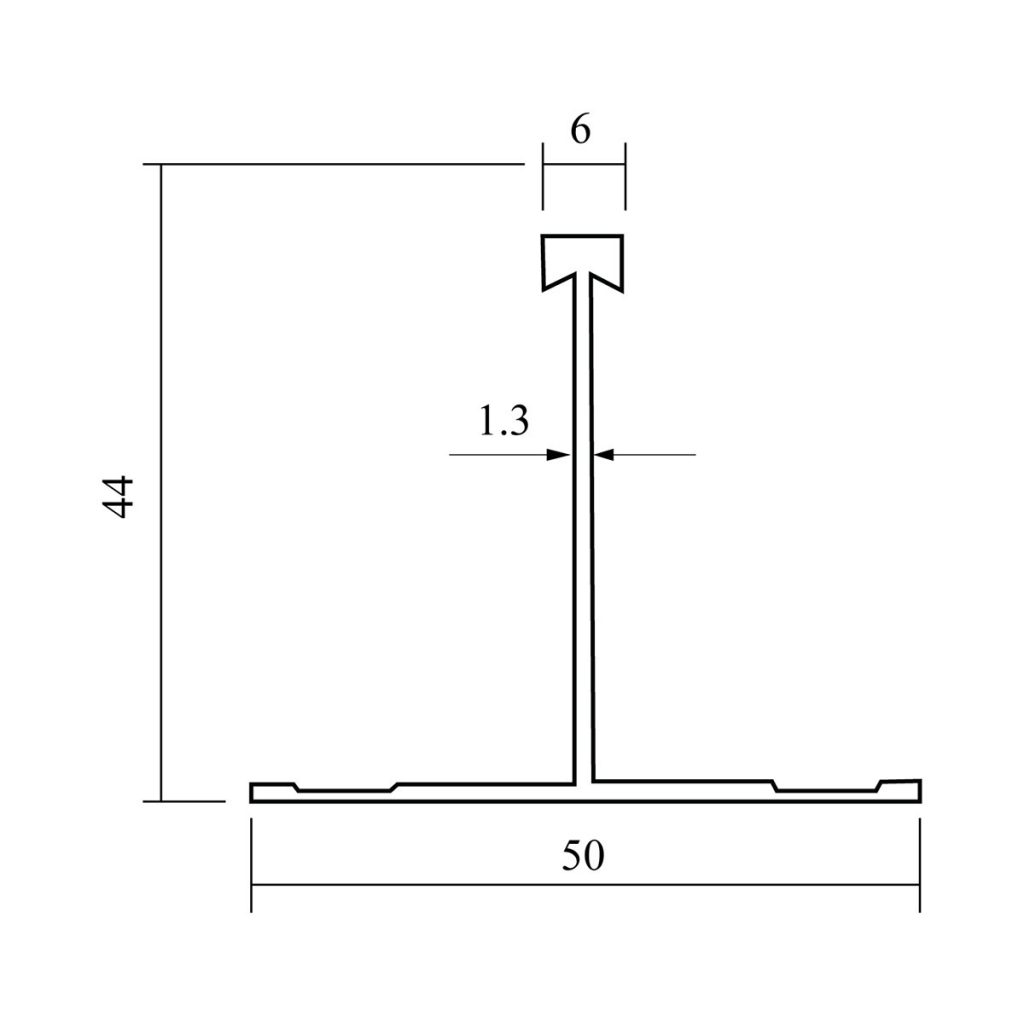 50mm Non-Walkable Ceiling Grid Drawing