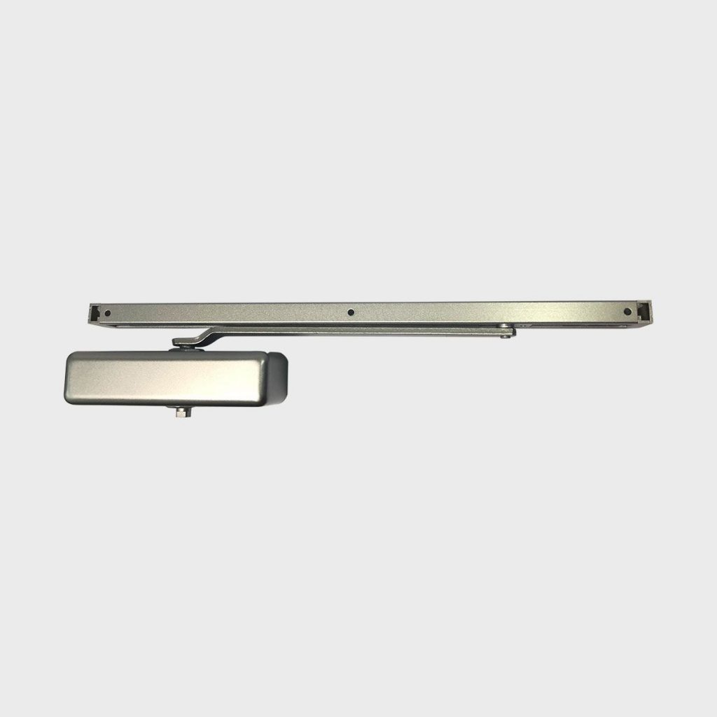Silver Slide Arm Door Closer Powder Coated Silver Cps