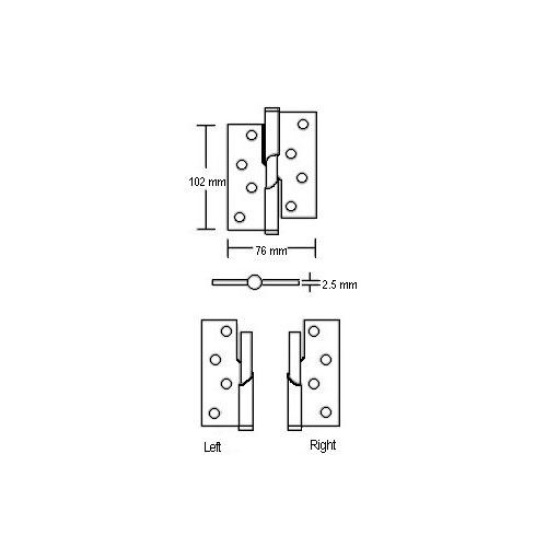 Rising Door Hinge (CPS DH400) Drawing